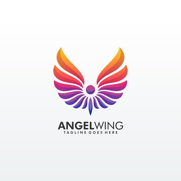 Abstrakter flügel bunte erstklassige logo template Premium Vektoren
