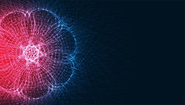 Abstrakter fraktaler glühender technologielinienhintergrund Kostenlosen Vektoren