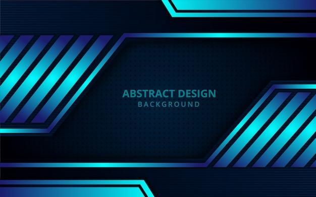 Abstrakter futuristischer geometrischer blauer hintergrund Premium Vektoren