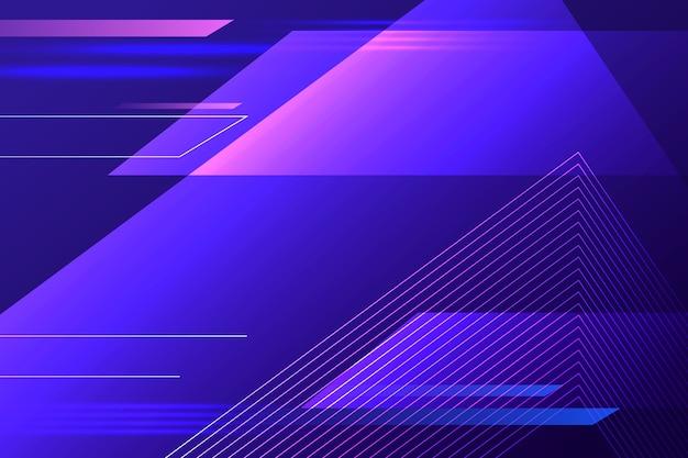 Abstrakter futuristischer hintergrund mit geschwindigkeitslinien Premium Vektoren