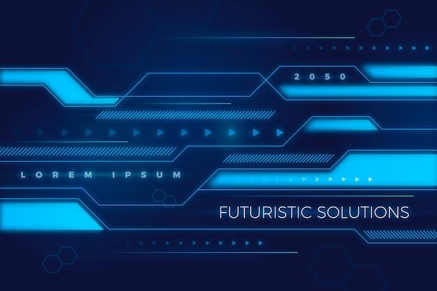 Abstrakter futuristischer hintergrund Kostenlosen Vektoren