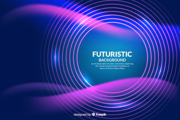 Abstrakter futuristischer neonhintergrund Kostenlosen Vektoren