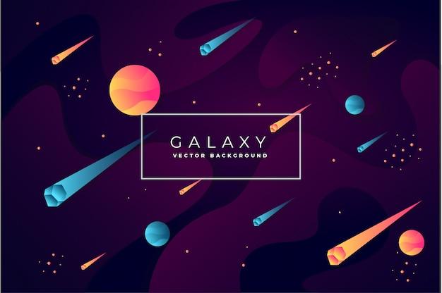 Abstrakter galaxiehintergrundvektor Premium Vektoren