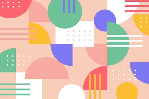 Abstrakter geometrischer formen moderner hintergrund Kostenlosen Vektoren