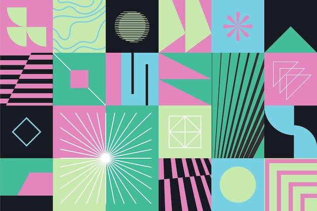 Abstrakter geometrischer formenhintergrund Kostenlosen Vektoren