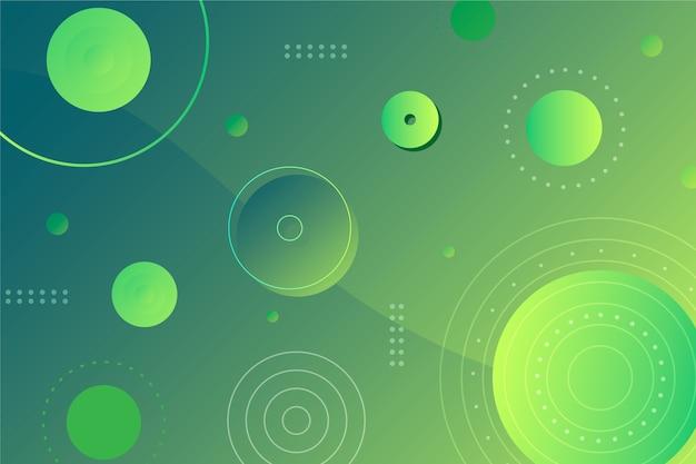 Abstrakter geometrischer hintergrund der grünen kreise Kostenlosen Vektoren
