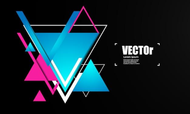 Abstrakter geometrischer hintergrund mit dreiecken. Premium Vektoren