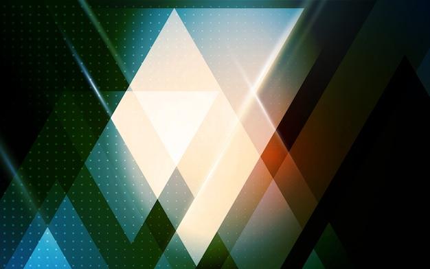 Abstrakter geometrischer hintergrund mit dreiecksform Premium Vektoren