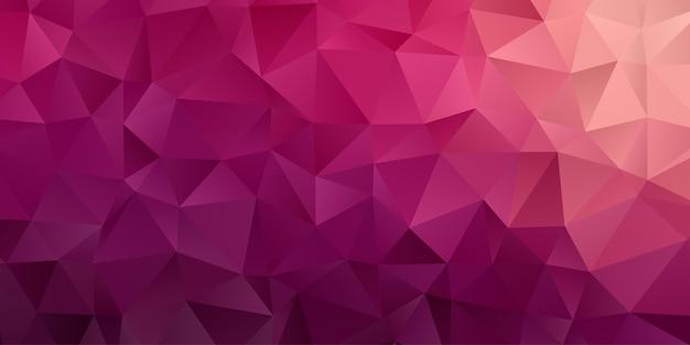 Abstrakter geometrischer hintergrund. polygon dreieck tapete in rosa lila farbe. muster Premium Vektoren