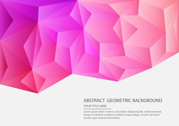 Abstrakter geometrischer hintergrund Premium Vektoren