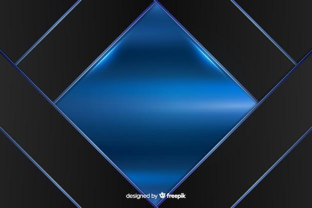 Abstrakter glänzender metallischer blauer hintergrund Kostenlosen Vektoren
