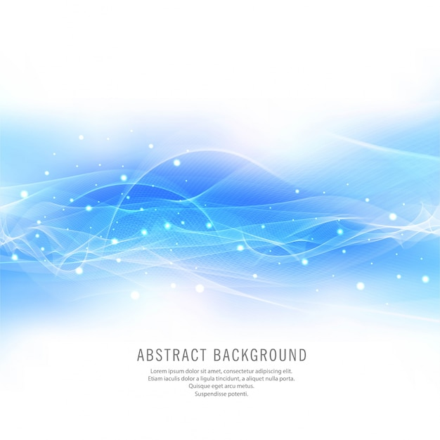 Abstrakter glänzender blauer Wellenhintergrundvektor Kostenlose Vektoren