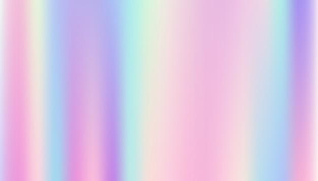 Abstrakter glatter und holographischer hintergrund. Premium Vektoren