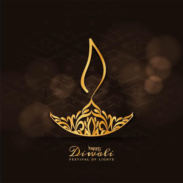 Abstrakter glücklicher diwali-festival-grußhintergrund Premium Vektoren