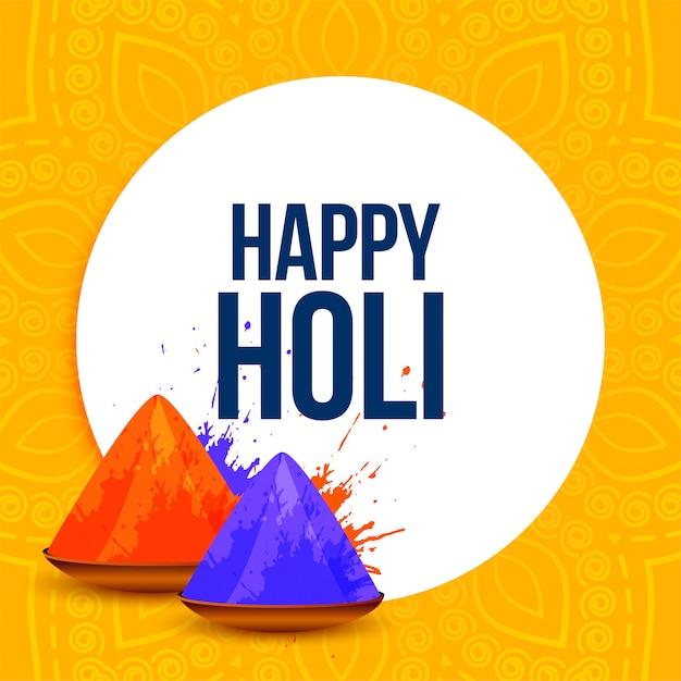 Abstrakter glücklicher holi festival färbt hintergrund Kostenlosen Vektoren