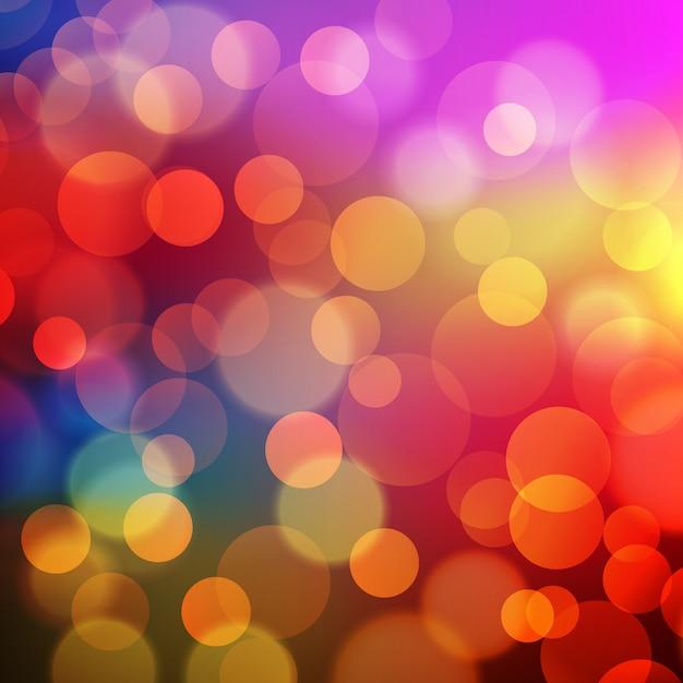 Abstrakter goldener feiertags-hintergrund mit bokeh effekt Premium Vektoren