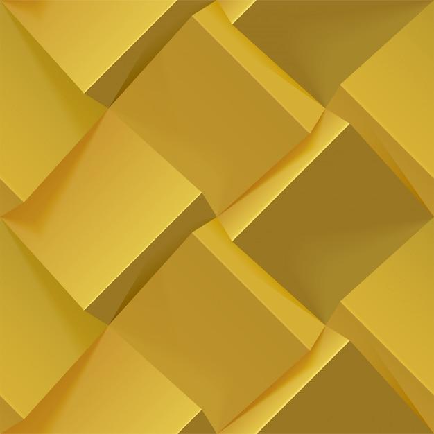 Abstrakter goldener geometrischer hintergrund. nahtloses muster für cover, buch, poster, flyer, website-hintergründe oder werbung. realistische illustration. Premium Vektoren