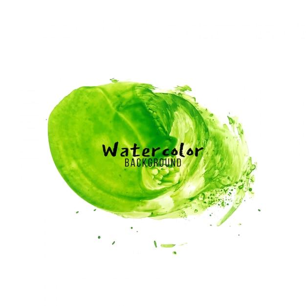 Abstrakter grüner aquarelldesignhintergrund Kostenlosen Vektoren