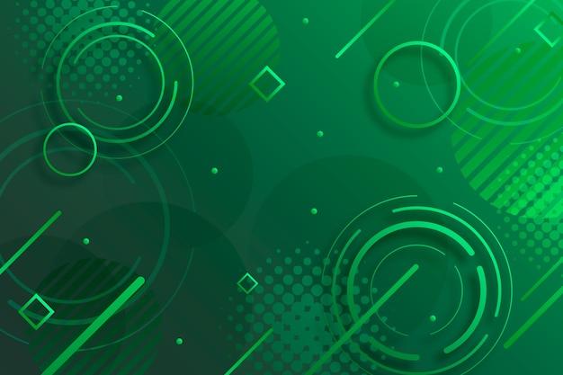 Abstrakter grüner geometrischer hintergrund Kostenlosen Vektoren