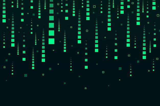 Abstrakter grüner pixelregenhintergrund Kostenlosen Vektoren