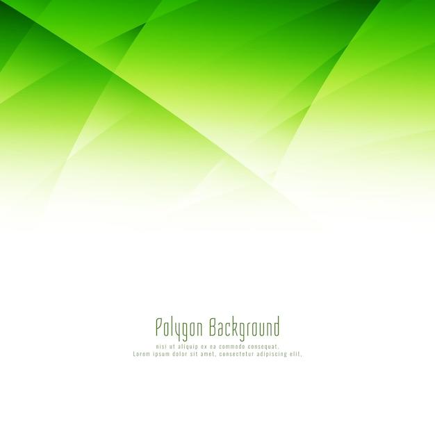 Abstrakter grüner polygonentwurfshintergrund Kostenlosen Vektoren