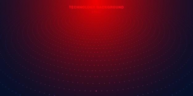 Abstrakter halbtonhintergrund der roten punkte Premium Vektoren
