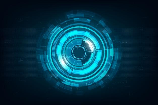 Abstrakter hallo geschwindigkeitsinternet-technologiehintergrund Premium Vektoren