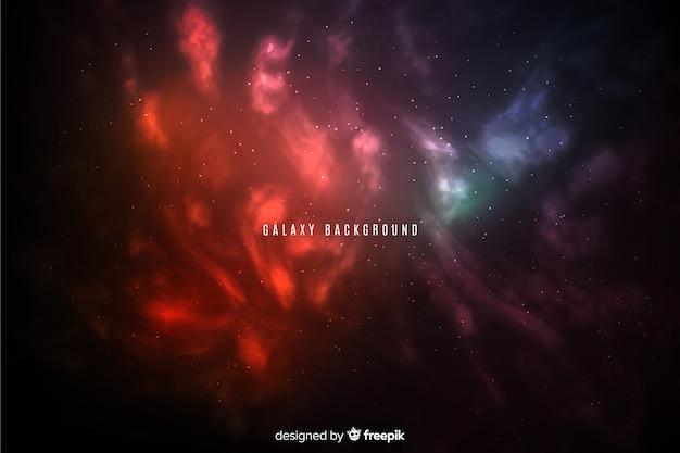 Abstrakter heller galaxiehintergrund der steigung Kostenlosen Vektoren