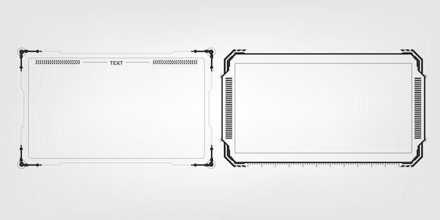 Abstrakter high-techer futuristischer schablonendesign-planhintergrund Premium Vektoren