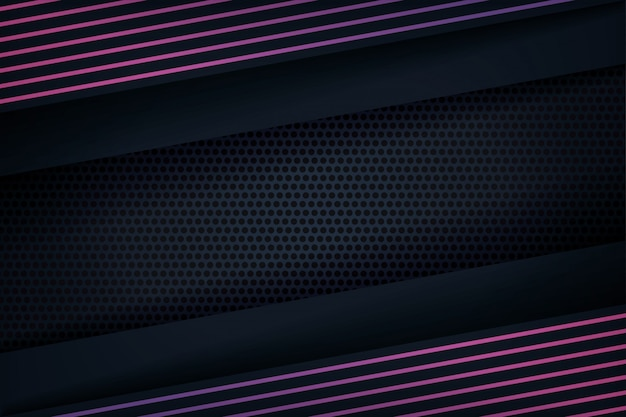 Abstrakter hintergrund 3d mit purpurroten linien Premium Vektoren