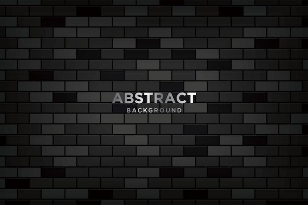 Abstrakter hintergrund 3d mit realistischen dunklen backsteinmauern Premium Vektoren