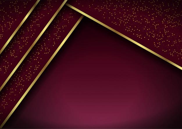 Abstrakter hintergrund 3d mit roten schichten. geometrische darstellung Premium Vektoren
