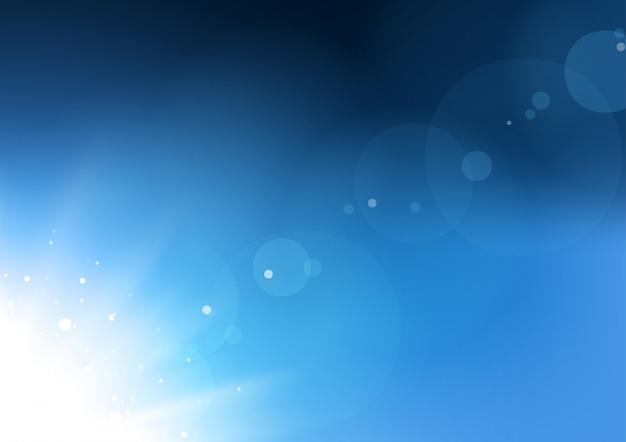Abstrakter hintergrund der blauen aufflackern Premium Vektoren