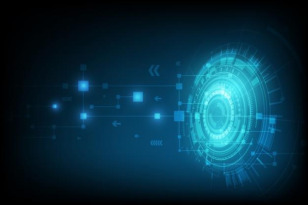 Abstrakter hintergrund der digitalen schaltung der technologiekugel Premium Vektoren