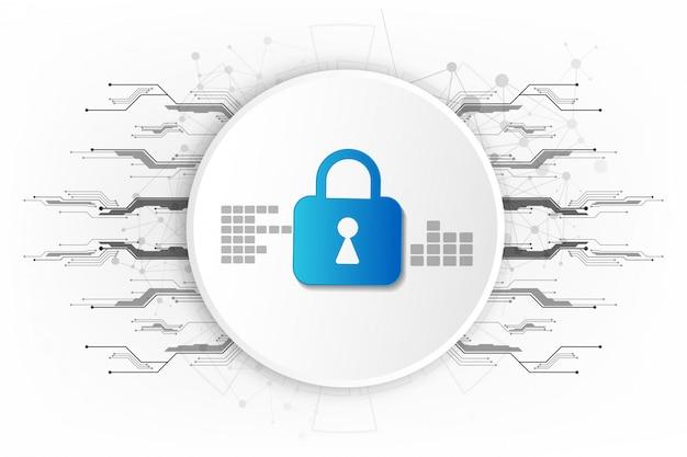 Abstrakter hintergrund der digitalen sicherheitstechnologie. Premium Vektoren