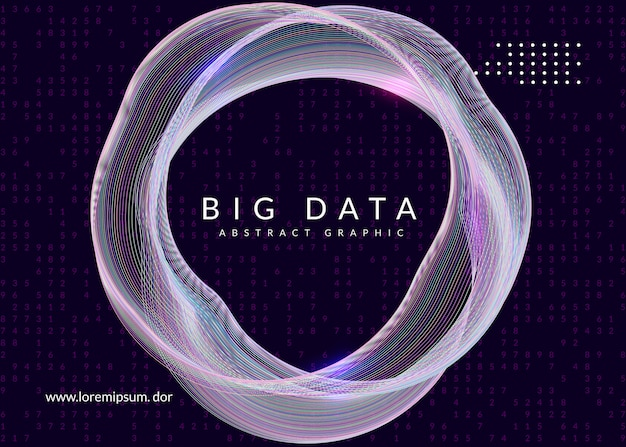 Abstrakter hintergrund der digitalen technologie. künstliche intelligenz, deep learning und big data-konzept. Premium Vektoren
