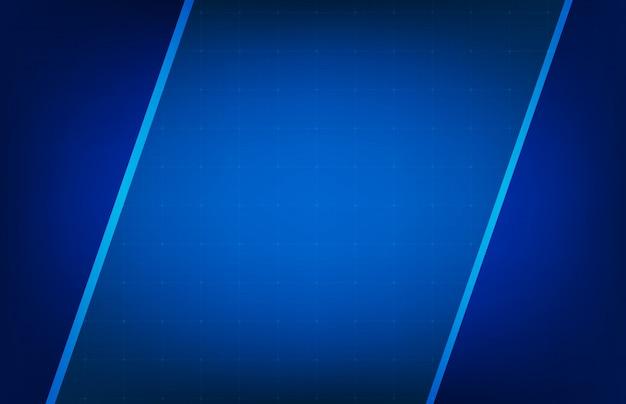 Abstrakter hintergrund der glühenden blauen feld ui hud bildschirmanzeige Premium Vektoren