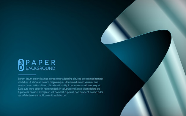 Abstrakter hintergrund des blauen papiers Premium Vektoren