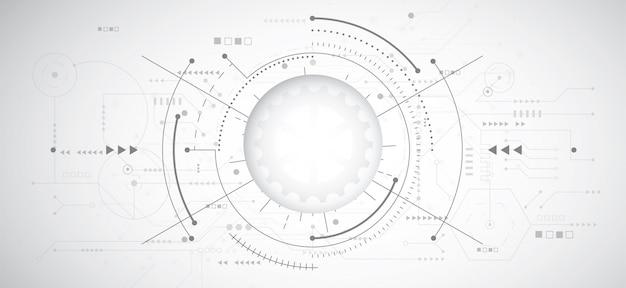 Abstrakter hintergrund des designs 3d mit technologie Premium Vektoren