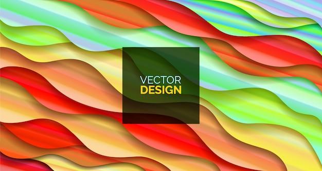 Abstrakter hintergrund fluid geometric-design mit flüssigkeiten und formen. Premium Vektoren