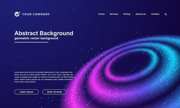 Abstrakter hintergrund für ihre landing page oder website-design. Premium Vektoren