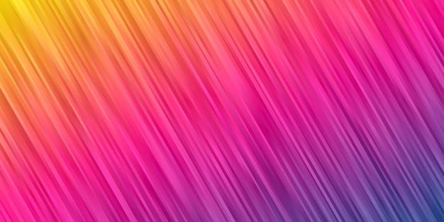 Abstrakter hintergrund gelb rosa lila süßer farbverlauf. streifenlinie tapete Premium Vektoren