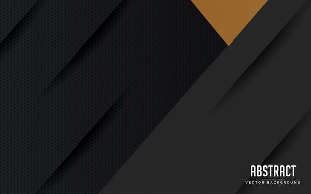 Abstrakter hintergrund geometrische schwarz-gold-farbe Premium Vektoren