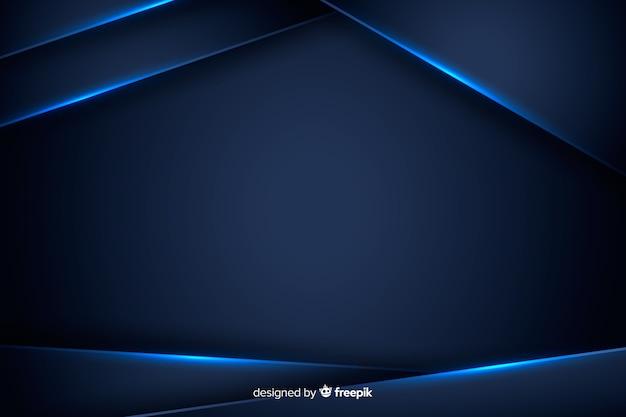 Abstrakter hintergrund mit blauen metallischen formen Kostenlosen Vektoren