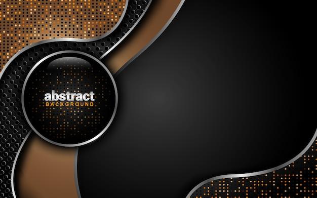 Abstrakter hintergrund mit dunklem farbschema: überlappungs-ebenenstil Premium Vektoren