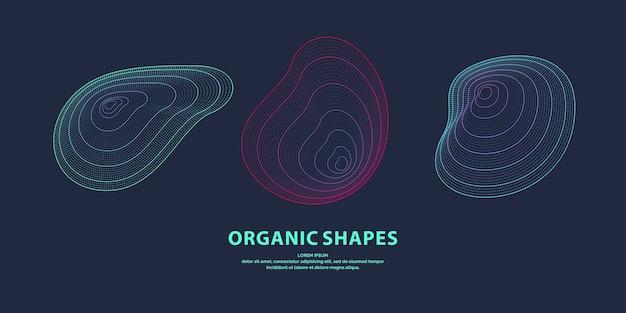 Abstrakter hintergrund mit dynamischen linearen wellen. illustration im minimalistischen stil Premium Vektoren