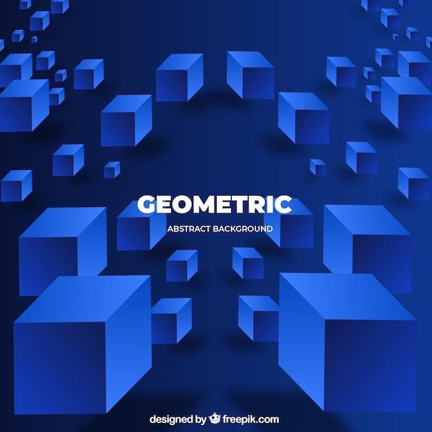 Abstrakter hintergrund mit geometrischen formen Kostenlosen Vektoren