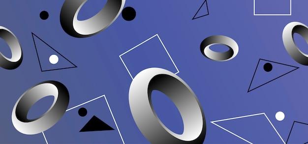 Abstrakter hintergrund mit geometrischen formen. Premium Vektoren