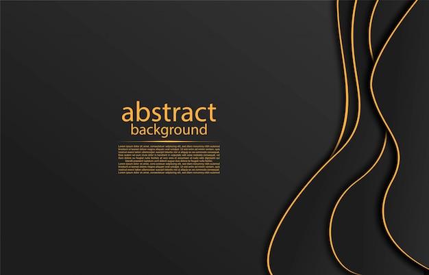 Abstrakter hintergrund mit goldenen linien Premium Vektoren