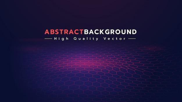 Abstrakter hintergrund mit hexagonboden. Premium Vektoren